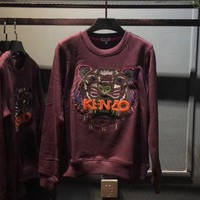 ONETOW KENZO Woman Men Casual Fashion Embroidery Top Sweater Pullover