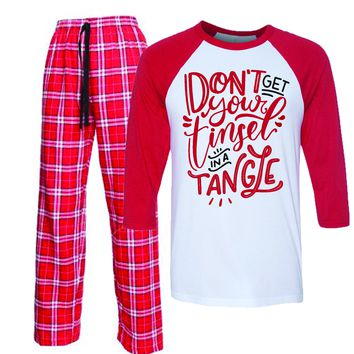 Don't Get your tinsel in a Tangle Christmas Matching Pajamas