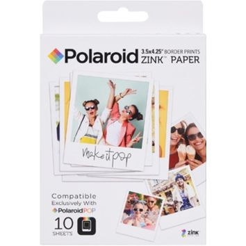 Polaroid POLZL3X410 Premium ZINK Border Print Photo Paper for POP Instant Camera - 3.5 x 4.25 inches - 10 Sheets