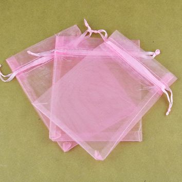 100Pcs Organza Wedding Candy Jewelry Party Favor Candy Birthday Supplies Packaging Wedding Sachet Organza Souvenir