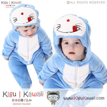 New Lovable Little Doraemon Baby Infant Animal Kigurumi Onesuit KK875