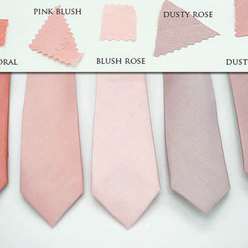 semi shiny mauve dusty rose blush ties, pink rose blush,rose coral ties,dusty blush rose,groomsmen,men,dusty blush wedding,blush rose ash