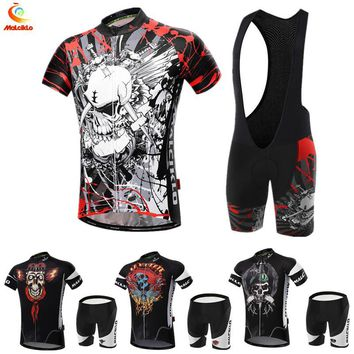 Maillot Cycling Sets with skull and crossed bones designs men's cycling jersey 2017 ropa ciclismo bike sports cycling clothing