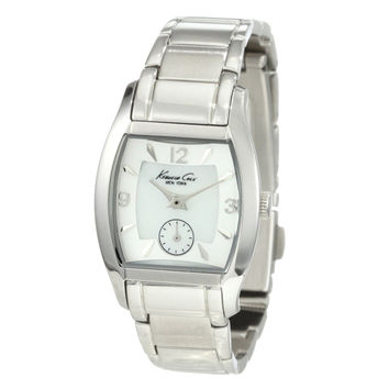 Kenneth Cole Reaction KC4497 Women's Mother of Pearl Dial Silver Stainless Steel Strap Bracelet Watch