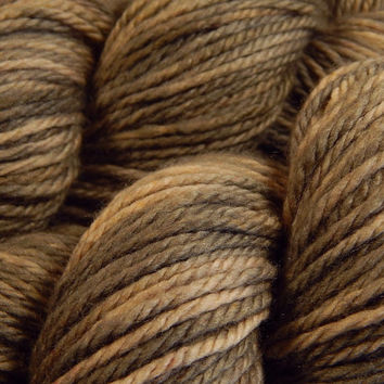 Hand Dyed Yarn - Aran Weight Superwash MCN (Merino Wool / Cashmere / Nylon) Yarn - Driftwood - Knitting Yarn, Wool Yarn, Tan Taupe Worsted