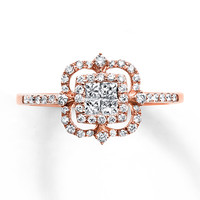 Diamond Ring 1/2 Carat tw 14K Rose Gold