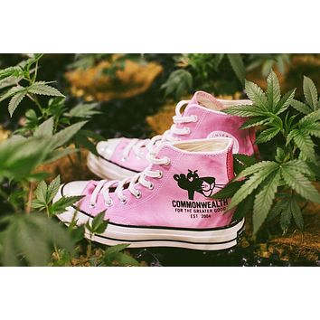PLEASURES & Commonwealth Link for a Pink Converse All Star 1970S Sneaker Pink 166782C