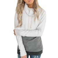 Spring Autumn Women Casual Hoodies Sweatshirts Long Sleeve Pullover Sweatshirt Loose Moleton Patchwork Sweatshirt Sudadera Mujer