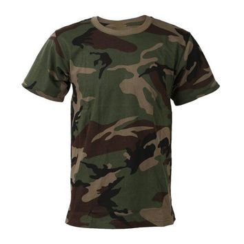 DCCKFS2 2018 New outdoor Hunting Camouflage Short T-shirt Men Breathable Army Tactical Combat T Shirt Military Dry Camo  Camp Tees