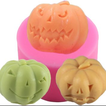Silicone Mold 3D Pumpkin Clay Candle Mould