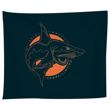 Shark Out of Water Tapestry
