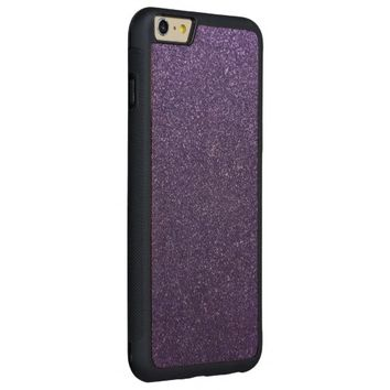 Cool Awesome Purple Glitter Carved® Maple iPhone 6 Plus Bumper