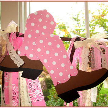 Cowgirl Happy Birthday Banner