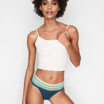 Stripe-waist Thong Panty - Stretch Cotton - Victoria's Secret