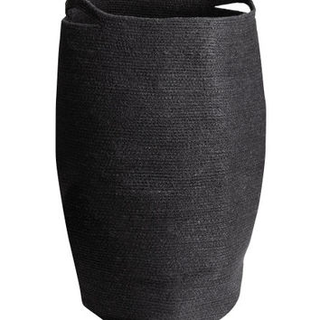 Jute Laundry Basket - from H&M