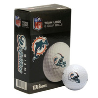 NFL Miami Dolphins Golf Ball  Pack of 6