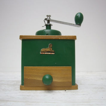 vintage french old coffee grinder 1950's E.G GRULET//France//coffee break breakfast//kitchenware//home decor//french country