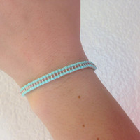 Beaded loom bracelet (2 colors)