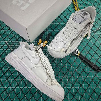ACRONYM x Nike Lunar Force 1 SP Triple White Fashion Shoes  - Best Online Sale