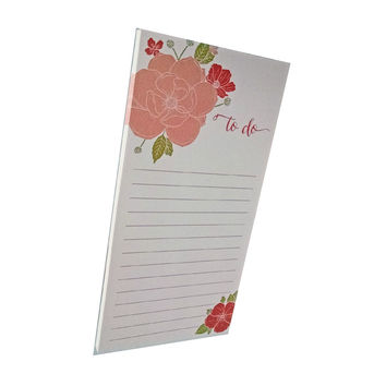 Floral Bouquet to do Notepad on White Paper