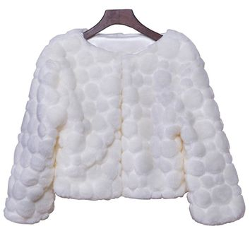 In Stock Wedding Accessory Faux Fur Black White Custom Made Bridal Coat Wedding Bolero Stoles Jacket Shrug Wraps LF29