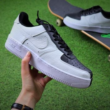 Nike Air Force 1 Low Split Black White Sport Shoes Sneaker Sale