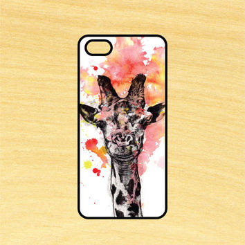 Giraffe Watercolor Painting Animal Phone Case iPhone 4 / 4s / 5 / 5s / 5c /6 / 6s /6+ Apple Samsung Galaxy S3 / S4 / S5 / S6