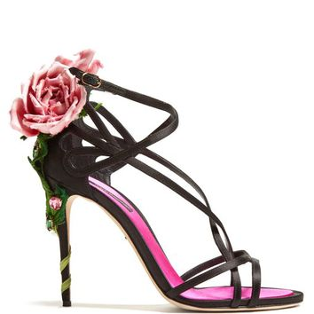 Rose-heel satin sandals | Dolce & Gabbana | MATCHESFASHION.COM UK