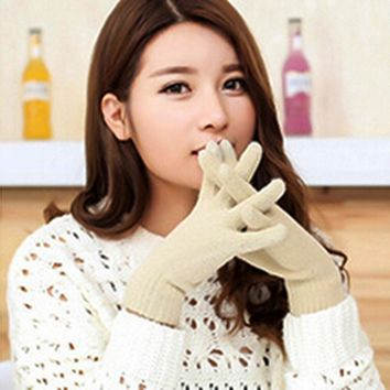 Detachable Three Using Way Knitting Wool Touch Screen Gloves Thick Warm Winter Female Students Gloves Fashion Mitten 2016 Hot