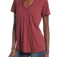 Lush Raw Edge Side Slit Tee | Nordstrom