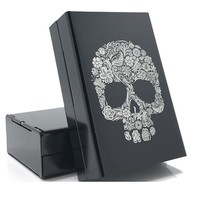 Skull  Aluminum Alloy Cigarette Box Metal Cigarette Case Cigarette Cover Storage Box