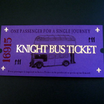 100 Knight Bus Tickets for the stranded Witch or Wizard