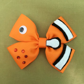 Finding Nemo Disney Character Inspired Hair Bow