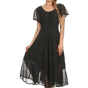 Sakkas Marigold Embroidered Fairy Dress
