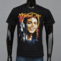 Hot sale 2016 New Men's t shirt Michael Jackson Personalized 3D printed Men short-sleeved T-shirt male Black clothing Tops