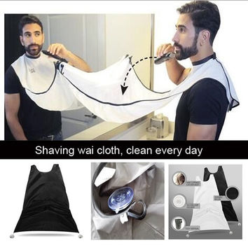 Nylon Shaving Scarf - Barber Scarf - 125cm x 85cm (Black/White)