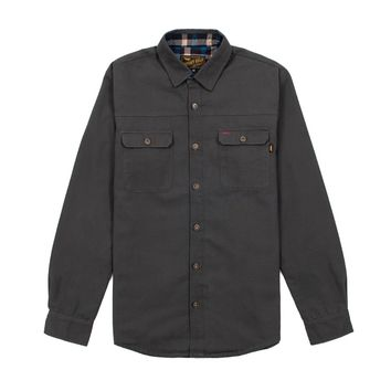 Smith Shirt Canvas Grey Jacket - Shop | Benny Gold