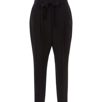 Black Paperbag Waist Trousers | New Look