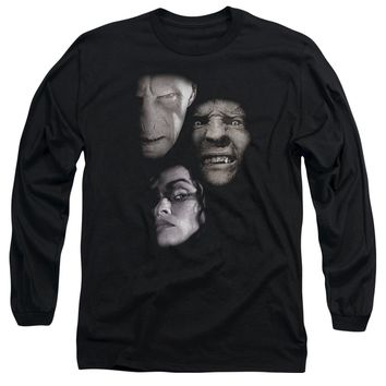 Harry Potter - Villian Heads Long Sleeve Adult 18/1 Officially Licensed Shirt