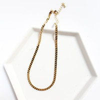 Gold Staple Choker
