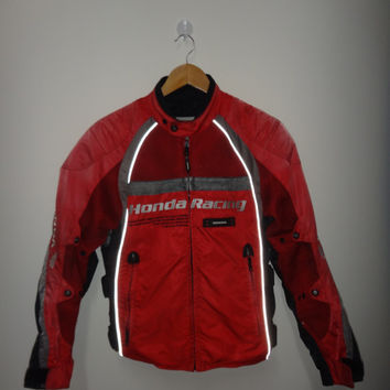 Vintage HONDA RACING Motorcycle Jacket Bikers Motorcycle Rider Jacket Racing