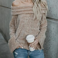 Hot Toddy Off The Shoulder Sweater