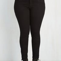 90s Skinny You Belong Here Jeans in Black - 1X-3X by ModCloth