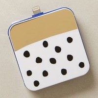 Gold Bar Dotted iPhone 5 Backup Battery by Anthropologie Blue One Size Jewelry