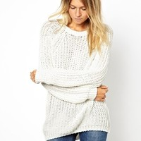 Mango Crew Neck Knit Top