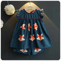 Korean Children's Garment 2016 A Summer New Girl Cartoon Fox Printing Short A Doll Skirt Shorts Fashion Suit-in Clothing Sets from Mother & Kids on Aliexpress.com | Alibaba Group