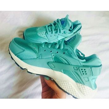 """NIKE""AIR Huarache Running Sport Casual Shoes Sneakers Mint green H-AA-SDDSL-KHZHXMKH"