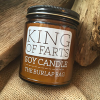 King of Farts Candle