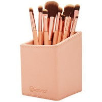 Pink Leather-Like Angled Makeup Brush Holder | BH Cosmetics