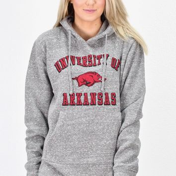 University of Arkansas Fleece Hoodie {Grey}